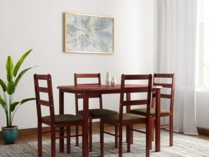 Wood 4 Seater Dining Set