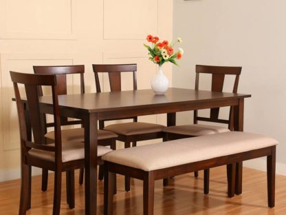 Wood 6 Seater Dining Set