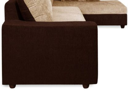 Cream Brown  4 Seater Sofa
