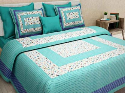 Cotton Double King Floral Bedsheet