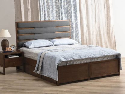 Solid Wood Queen Drawer Bed